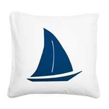 sailboat Square Canvas Pillow