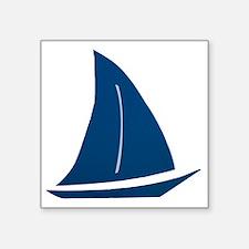 """sailboat Square Sticker 3"""" x 3"""""""