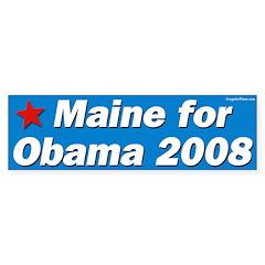 Maine for Obama 2008 bumper sticker