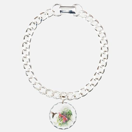 Hummingbird_Card Charm Bracelet, One Charm