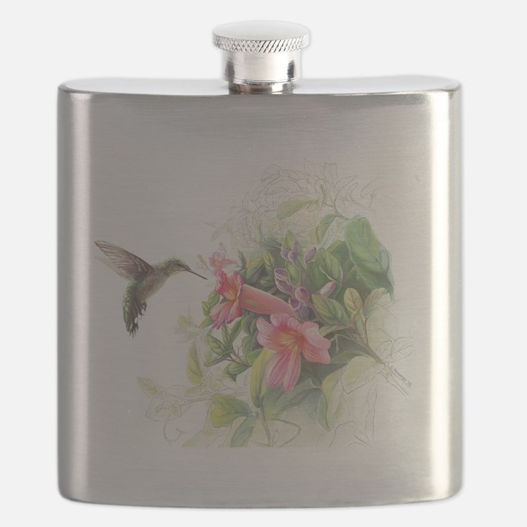 Hummingbird_Card Flask