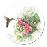Hummingbird Round Car Magnets