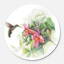 Hummingbird_Card Round Car Magnet