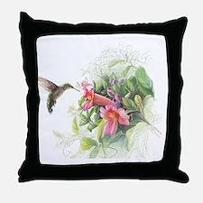 Hummingbird_Card Throw Pillow