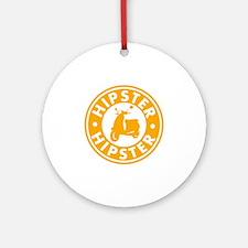 hipster2_orange Round Ornament