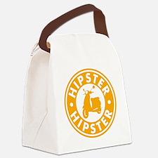 hipster2_orange Canvas Lunch Bag
