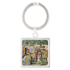 ALICE_Alice and the Queen of Heart Square Keychain