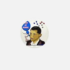 obama_smokes_cig Mini Button