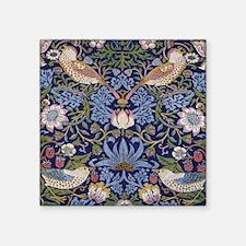 "William Morris Strawberry T Square Sticker 3"" x 3"""