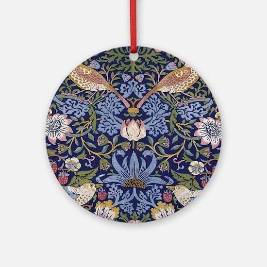 William Morris Strawberry Thief Round Ornament