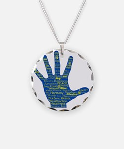 Hand Affirmations Necklace