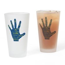 Hand Affirmations Drinking Glass