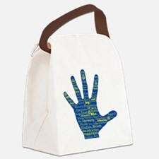 Hand Affirmations Canvas Lunch Bag