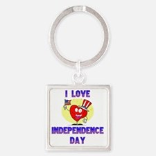 Independence day copy Square Keychain