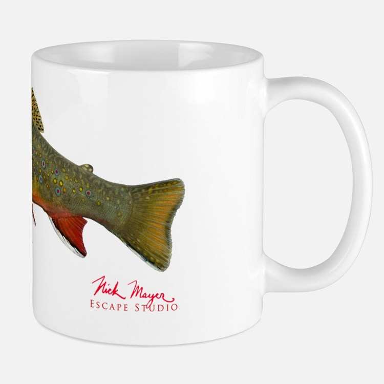 Beaver pond Brook Trout T shirt Mug