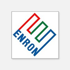 "enron Square Sticker 3"" x 3"""