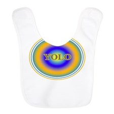 YOLO Blue and Gold Halo You Only Live Once Bib