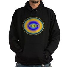 YOLO Blue and Gold Halo You Only Live Once Hoodie