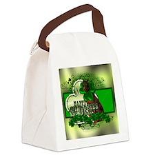 HappyDobieDayHorz Canvas Lunch Bag
