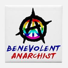 benevolent anarchist-1 Tile Coaster