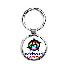 benevolent anarchist-1 Round Keychain