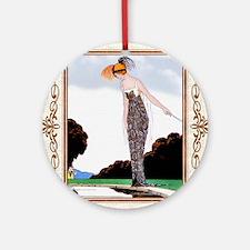 IPAD 6 JUNE GDBT COQUETTE Round Ornament
