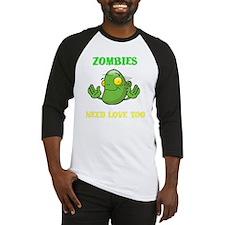 ZombiesNeedLoveToo Baseball Jersey