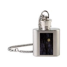 Harvest Moon Reflected - Print Flask Necklace