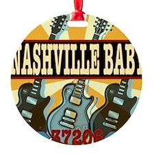 Nashville Baby 37206 Ornament