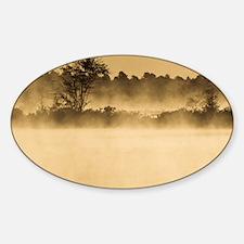 Bog at Dawn - Print Sticker (Oval)