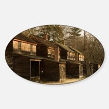 Batsto Houses - Print Sticker (Oval)