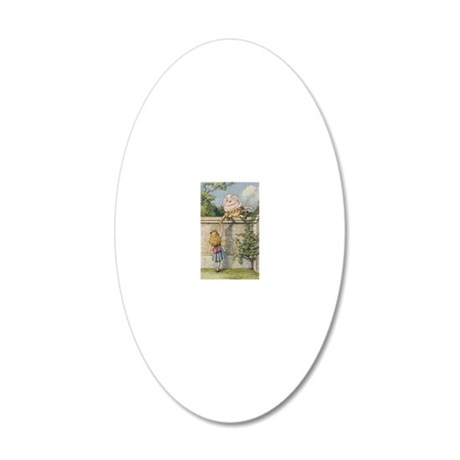 aLICE If He Smiled Much More 20x12 Oval Wall Decal