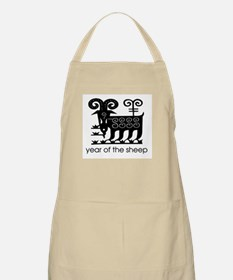 Year of the Sheep B & W. BBQ Apron