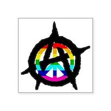 """benevolent anarchist-hat Square Sticker 3"""" x 3"""""""