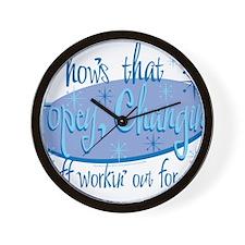 Dark Hopey Wall Clock