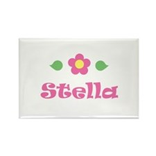 "Pink Daisy - ""Stella"" Rectangle Magnet"