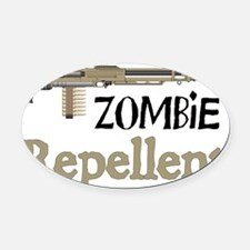 2-ZombieRepellent Oval Car Magnet