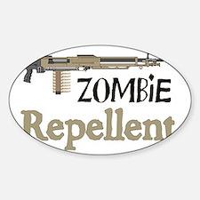 2-ZombieRepellent Sticker (Oval)