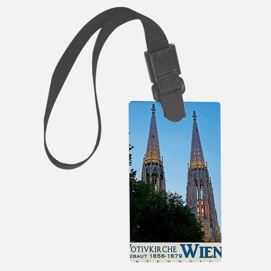Votivkirche Night Luggage Tag