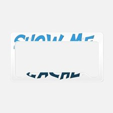 Show Me the cache-Blue License Plate Holder