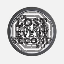 more lost than ever copy Wall Clock