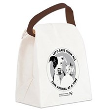 Let's Save Them All - grey Canvas Lunch Bag
