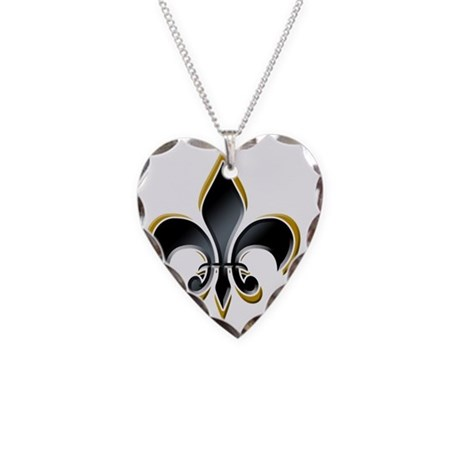 FDL on BLK 10x10_apparel Necklace Heart Charm