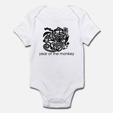 Year of the Monkey Black and Infant Bodysuit