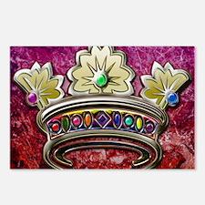 2-Royal jeweled crown dig Postcards (Package of 8)