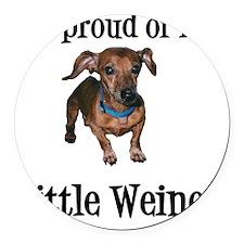 Little Weiner Round Car Magnet