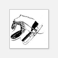 "VINTAGE SKATE STAMP Square Sticker 3"" x 3"""