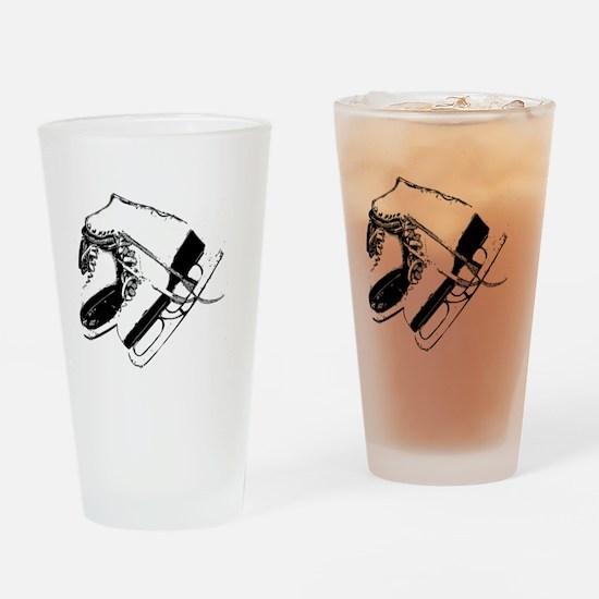 VINTAGE SKATE STAMP Drinking Glass