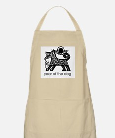 Year of the Dog B and W BBQ Apron