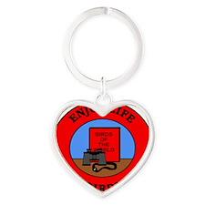 birding2 Heart Keychain
